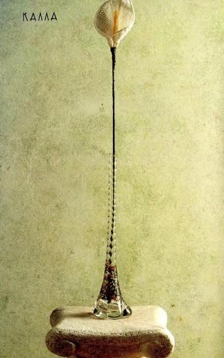 Калла вязаная крючком с бисером